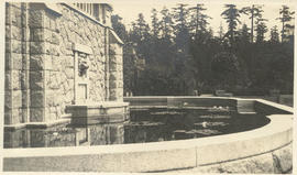 Fountain, lower terrace, Hatley Castle