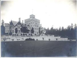 Hatley Castle from croquet lawn