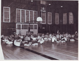 cadets in the gymnasium