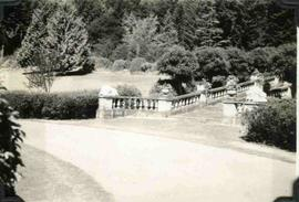 Hatley Park, front drive and Neptune Steps